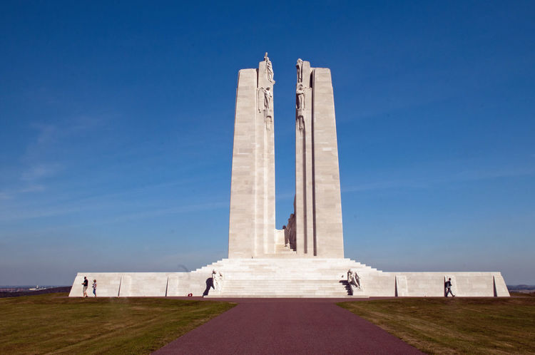 Vimy Ridge Memorial Architectural Column Architecture Built Structure Day History Low Angle View Memorial Monument No People Outdoors Sky Tourism Travel Destinations Vimy Ww1 Memorial