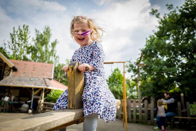 Portrait of child at playground