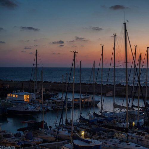 Jaffa נמליפו Jaffaport Boat יפו Night Sunset Light Port נמל לילה שקיעה Noche Puerto Jaffa Pictureoftheday