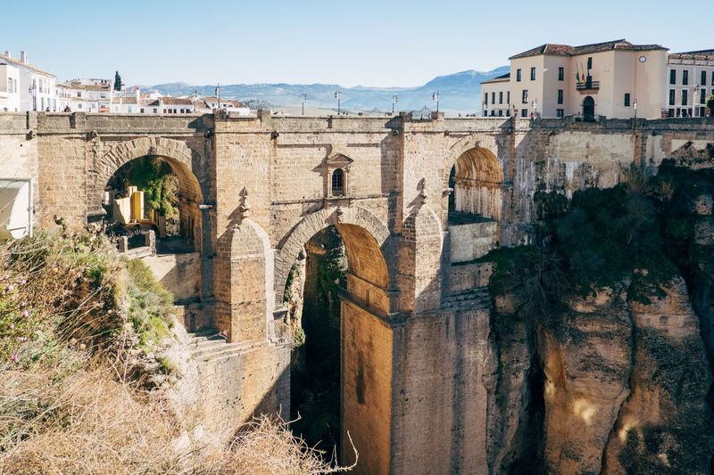 Ronda / Spain Ronda Ronda Andalucia Ronda Bridge Ronda Spain Ronda, Malaga Tourist Tourist Attraction  Arch Architecture Bridge Bridge - Man Made Structure Building Exterior Built Structure Connection Day Mountain Nature No People Outdoors Sierra Nevada Sky Tourism