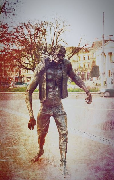 The dead walk in Geneva Switzerland Statue Zombie Zombie Apocalypse ZombieArt Walkingdead Geneva Switzerland