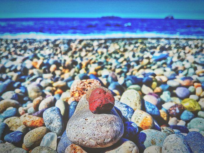 Blue Sea Nature Day No People Beauty In Nature Water Stone Heart ❤ Tirebolu Giresun Günbatımı 🌅 Karadeniz Blacksea 😊 Blackseaside BlackseaTurkey