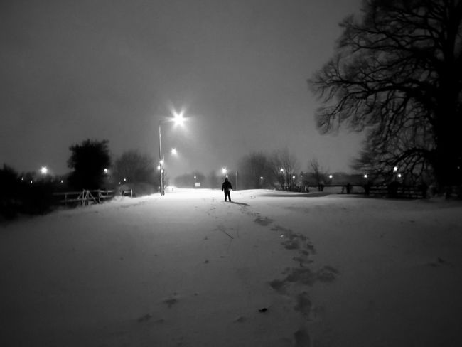 Blackandwhite Night Photography Landscape Shillouette Light In The Darkness Light And Shadow Night Walking Trees And Sky Outdoor Photography EyeEm 2018 Ireland🍀 Check This Out From My Point Of View Taking Photos Hello World The Places I've Been Enjoying Life Enjoying The View Night Illuminated People Winter One Person Outdoors Cold Temperature