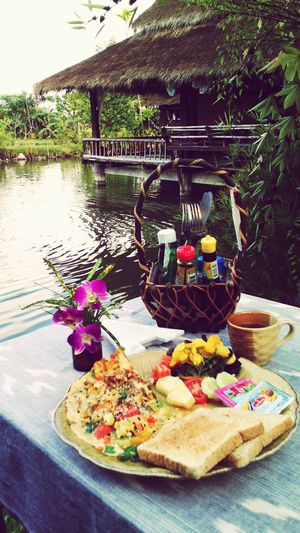 Relaxing Enjoying Life Spotted In Thailand Poolside Dining Breakfast