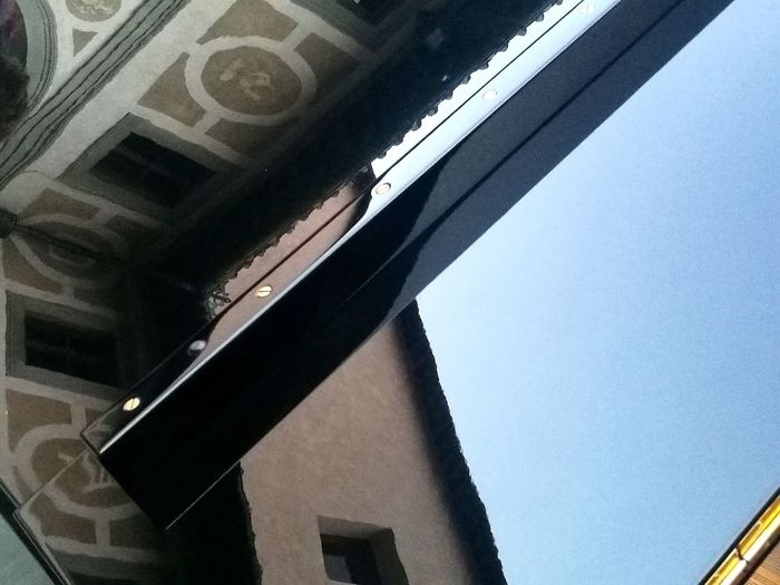Riflessi di un'alba in musica ( concerto all'alba di Roberto cacciapaglia I) No Edit/no Filter Reflection Piano Steinway & Sons Musical Instrument Pianoforte City Architecture Building Exterior Built Structure Close-up Sky Architectural Detail
