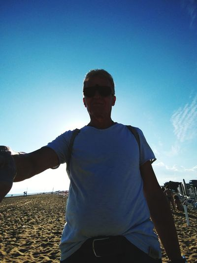 Men Human Hand Portrait Arms Outstretched Healthy Lifestyle Blue Human Arm Happiness Sky