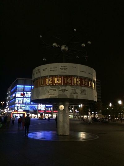 Capture Berlin Night Illuminated Travel Destinations City No People Outdoors Berlin 2014 Uraniaweltzeituhr