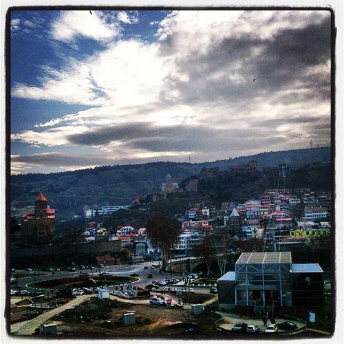 Зимний вечер. Georgia Sakartvelo Tbilisi ParkRike Metekhi Narikala Грузия Тбилиси ПаркРике Метехи Нарикала