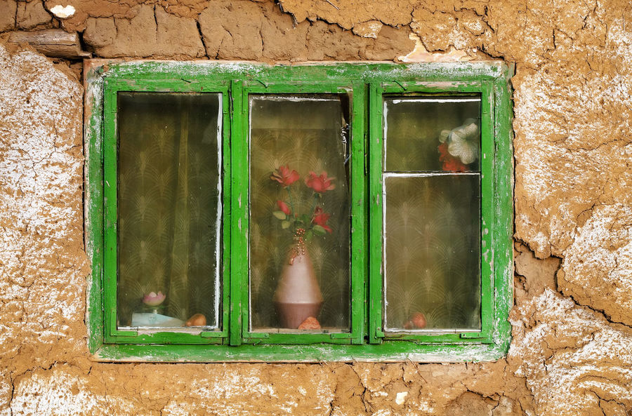 Architecture Building Exterior Built Structure Day Green Color Growth House No People Old Outdoors Traditional Weathered Window Window Frame Windows