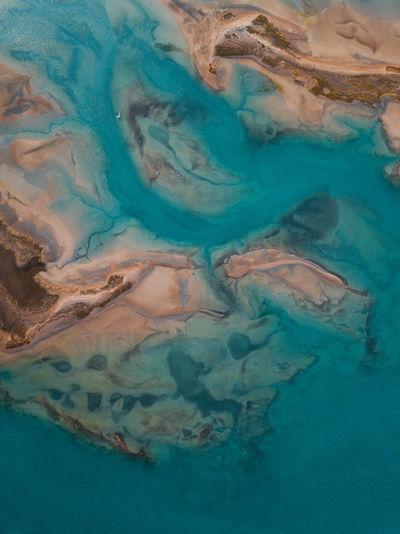 Full frame shot of blue water in sea
