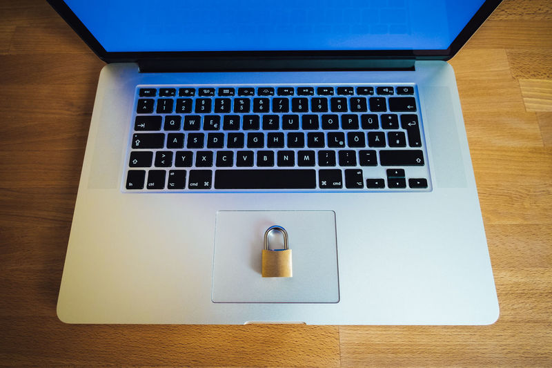 lock as symbol for Privacy and General Data Protection Regulation on a notebook computer Big Data Business Golden IT SSL Blue Compliance Computer Computer Crime Data Dsgvo Encryption Eu Europe Gdpr Https Laptop Law Notebook Padlock Password Privacy Safety Secure Symbol
