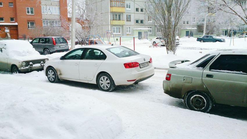 Jetta Volkswagen Winter зима❄️ двор