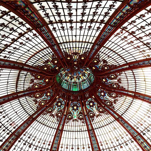 Architecture Art Nouveau Looking At The Ceiling Galeries Lafayette Coupole Galeries Lafayette Haussmann OpenEdit The Architect - 2015 EyeEm Awards