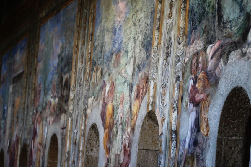 Architecture Built Structure Close-up Day Fresco Paintings Italy Monastero Santa Chiara Napoli No People October 2016 Outdoors