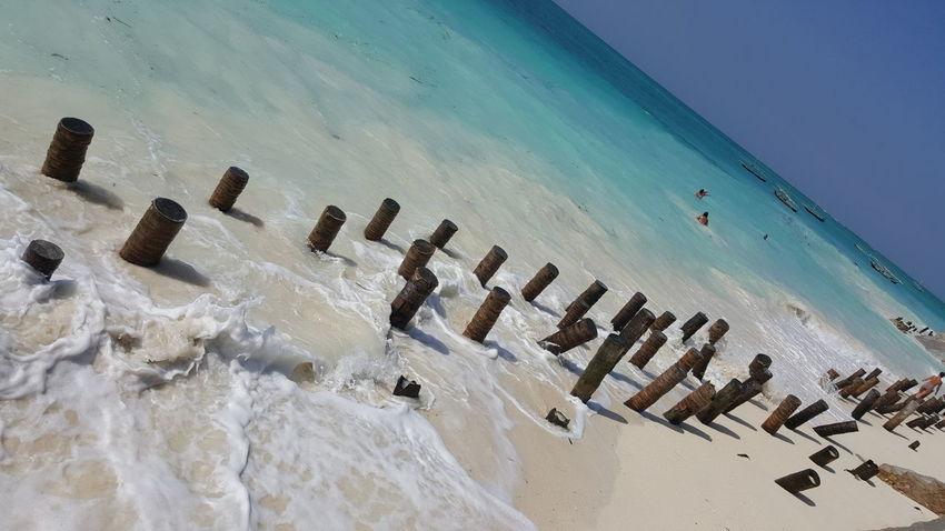 Zanzibar Beach Water Sea Tourism Blue Sand Tanzania No People Plage Sable