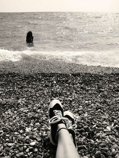 Brighton Beach Relaxing Taking Photos My Feets Friend Vintage Vintage Picture Summertime Memories Feelings