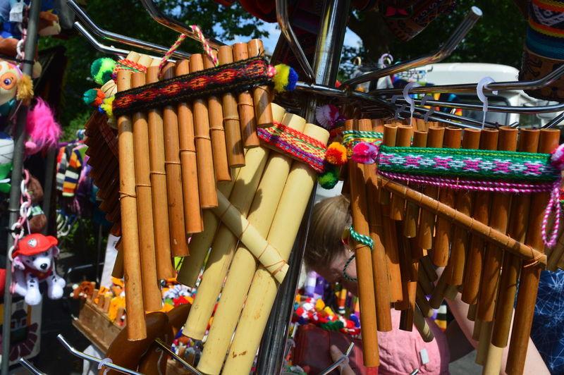Bolivia Latin Music Peru Argentina Arts Culture And Entertainment Folklore Hanging Indigenous  Market Multi Colored Musical Instrument Peruvian Retail  Siku