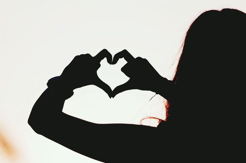 Heart Silhouette Photography