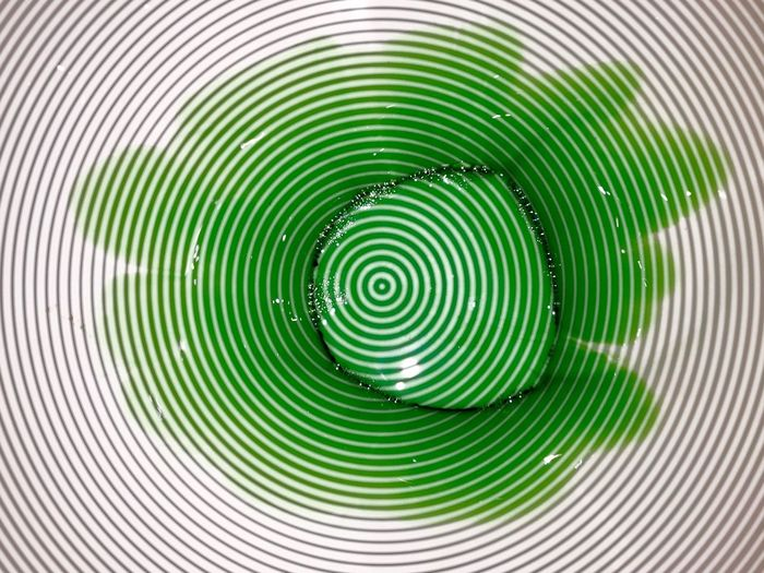Experiment Backgrounds Circle Pattern Concentric Geometric Shape Close-up Full Frame Spiral Abstract Green Color