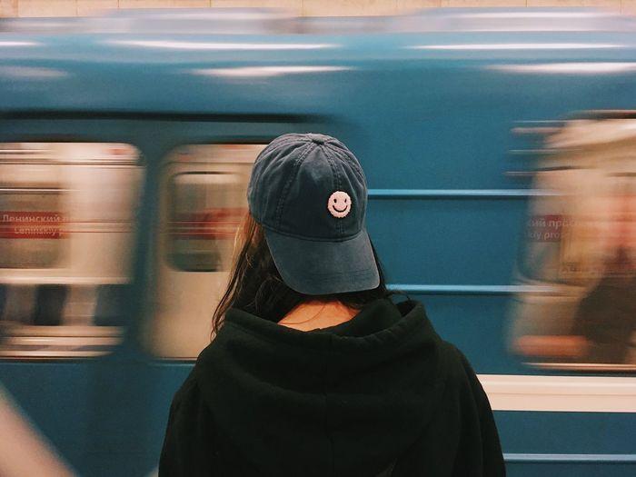 Girl in a metro