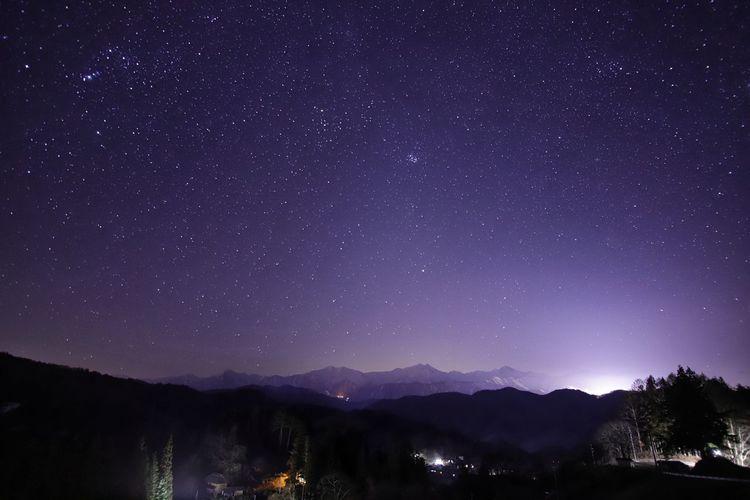 停電の夜、星空が広がってたそうです☆ 銀河鉄道の夜♪ Astronomy Galaxy Star Trail Space Milky Way Star - Space Mountain Constellation Snow Illuminated