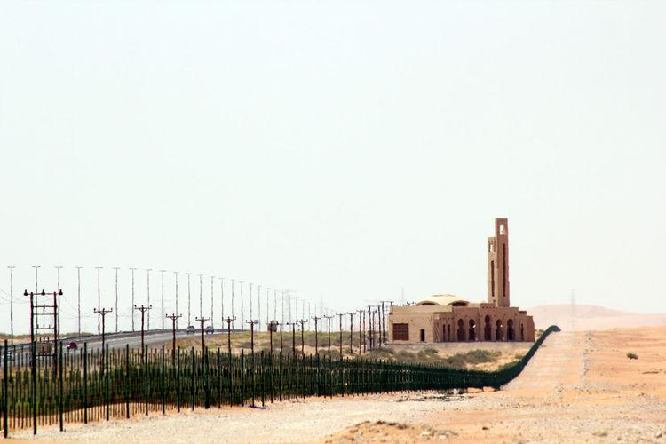 Mosque Streetlights Highway Desert Daytime Late Summer EyeEm Best Shots EyeEm Best Edits