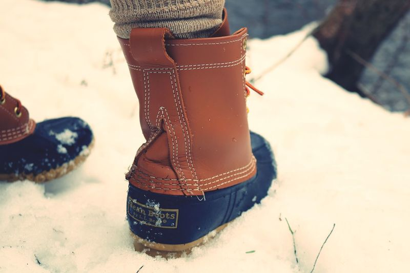 Llbean Boot Close-up Land Nature Shoe Focus On Foreground No People Day Brown Cold Temperature Outdoors Clothing