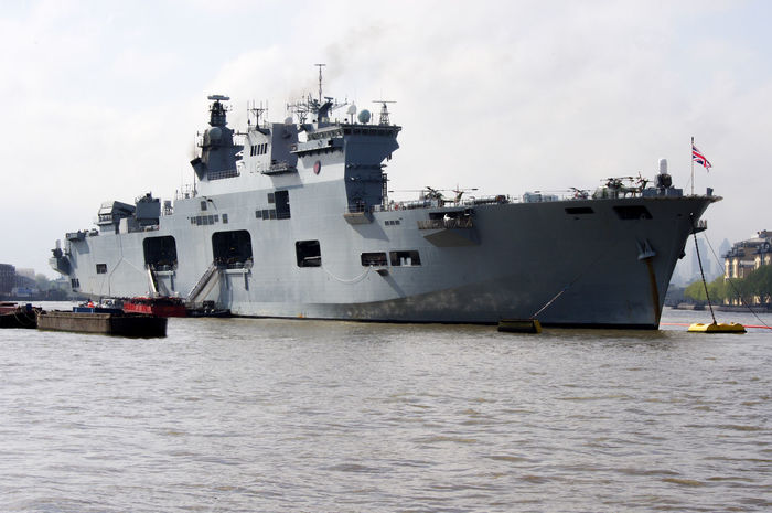 HMS Ocean Army Cloud - Sky Day Freight Transportation Military Nautical Vessel Navy No People Outdoors Radar Sea Ship Shipping  Sky Transportation Water Weapon