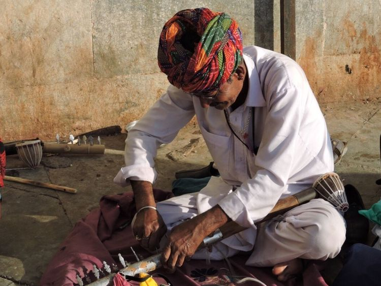 Vibrant india Adults Only Men Cultures Adult People Only Men Outdoors One Man Only Day Turbans