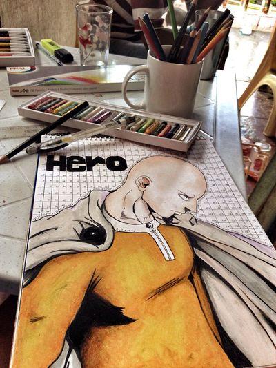 just sharing Hobby Drawing Arts Colors Pastels Pencils Color Pencils  Sketch Pad Things I Like Saturday Boredom Free One Punch Man Saitama Eyeem Philippines Showcase April Olloclip IPhone Photography Japanese Manga