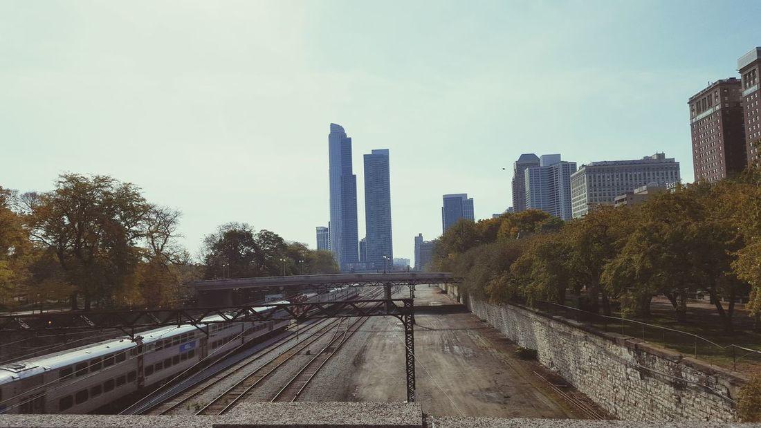 Chicago Chicago Architecture Chicago ♥ Chicago Skyline Chicago Illinois Chicago's Skyline Rail Railway Train Zug Schienen Eisenbahnfotografie Eisenbahn Eisenbahnschienen Skyline Hochhaus Skyscraper