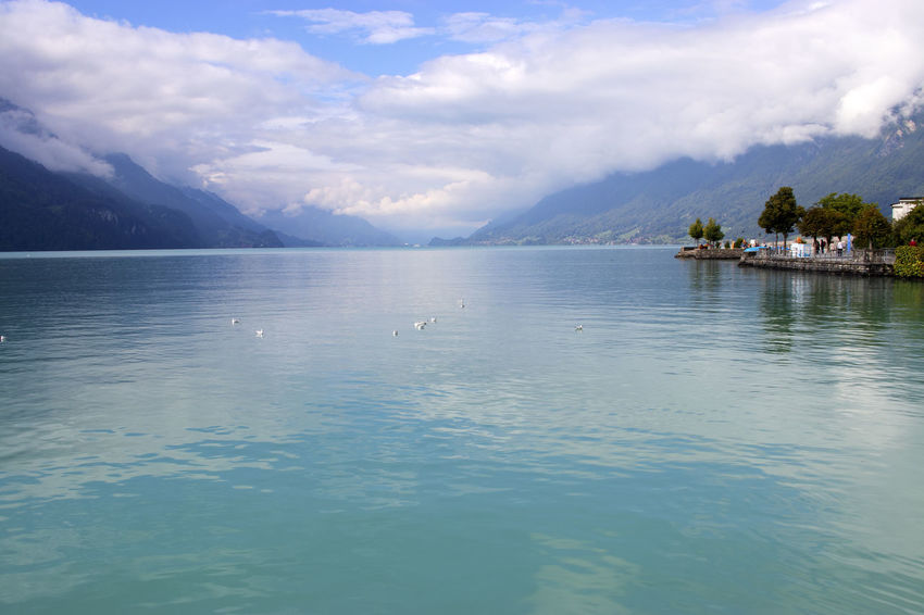 Lake Brienz Switzerland Beauty In Nature Cloud - Sky Lake Brienz Lake View Outdoors Reflection Scenics - Nature Switzerland Tranquility Water Waterfront