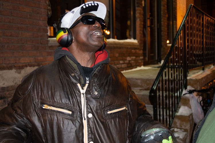 City Happy Homeless People Black Man Colorful Eccentric Homeless Homelessness  Street Scene Streetphotography