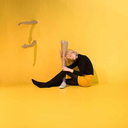 Day Full Length Indoors  One Person People Studio Shot Yellow Yellow Background Young Adult Young Women Paint The Town Yellow