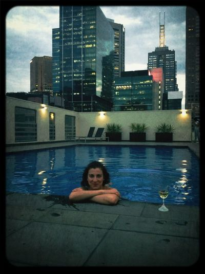 Rooftop Swimming