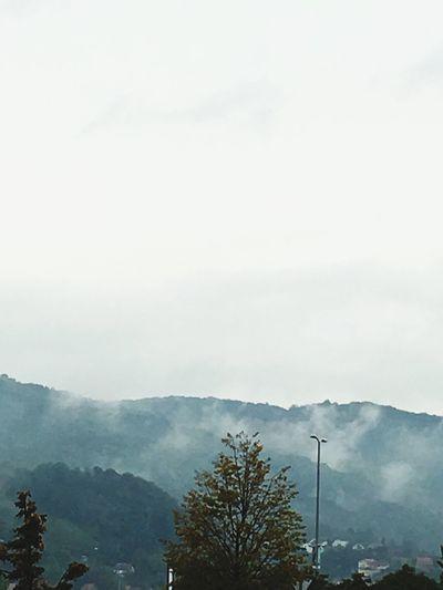 Smokey Mountain Nature Fog Landscape Mountain Range Sky Tranquil Scene