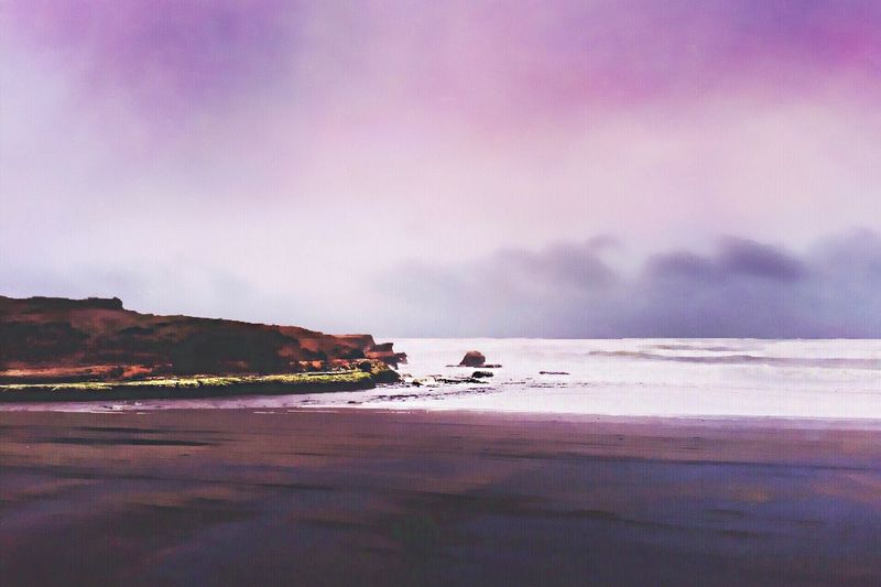 IPhoneography Cloudy Teodoroschmidt Purple Beach