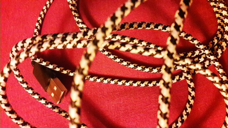 Exploring Style Red Fashion Pattern Close-up No People Indoors  Cable Phone Cord Phone Cable Electric Wire Electric