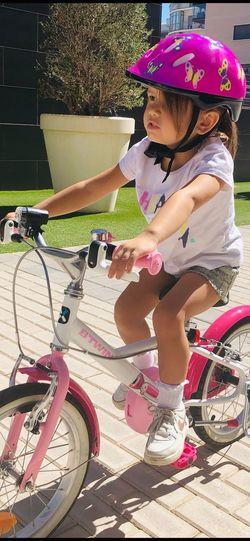 Btwin Cute Girl Biker Kid Riding Bike Bycicle Kid First Eyeem Photo