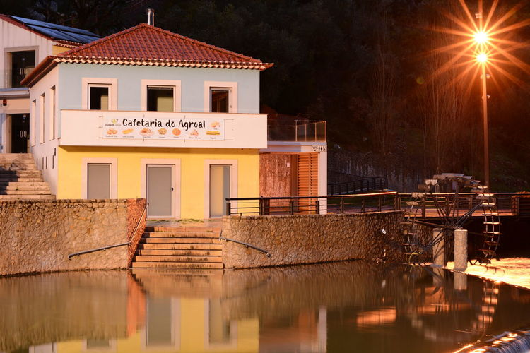 No People Outdoors Night City Sky River Water Rio Illuminated Beauty In Nature Fluvial Beach Praia Fluvial Agroal