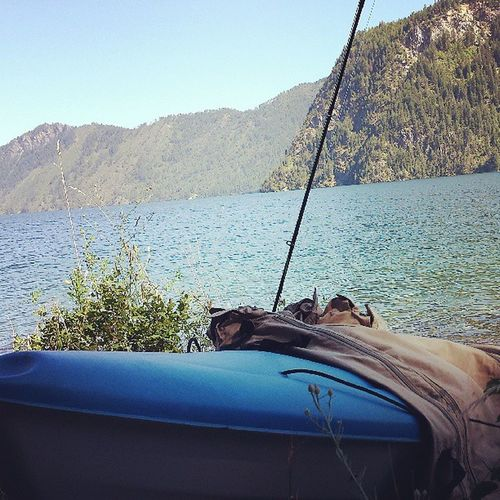 Kayaking and Flyfishing  on Lake Pendorielle not a bad day