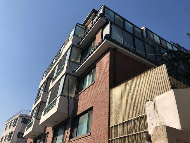 Village View Korean Culture Village Photography Village Architecture Building Exterior Built Structure Low Angle View Window Clear Sky No People Outdoors Day Modern Sky EyeEmNewHere