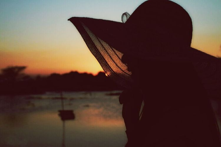 Silhouette Sunset One Person Only Women One Woman Only Outdoors Photography Sun Hat Photosession Eyeemphotography Mystories Story Behind The Picture Mangroveforest Mangrove Area Portrait Story Photography No People Photoshoot Photography