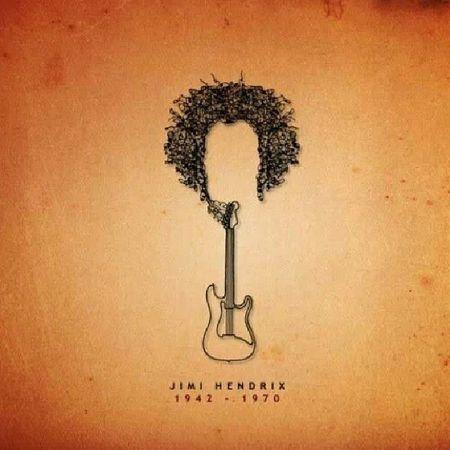 Jimihendrix Adobe Illustator Photoshop jimihendix experience guitar fenderstratocaster fender graphicdesign black orange wallpaper