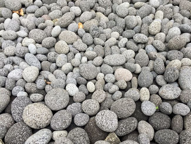 Pattern, Texture, Shape And Form Pattern Pebbles And Stones Tumbled Tumbled Stones Grey Gray Rounded Volcanic Rock Greyscale Grayscale Full Frame Garden Garden Bed Backgrounds Pebble Large Group Of Objects No People Textured  Abundance Nature Pebble Beach Close-up Outdoors Day