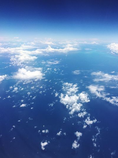 Aerial view of clouds over sea