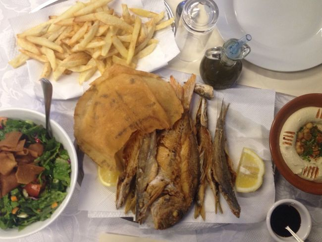 Food Fish Fresh Sidon Lebanon East Mediterranean