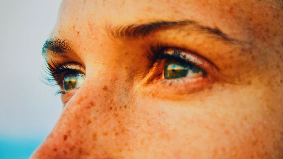 Close-Up Portrait Of Woman Eyes