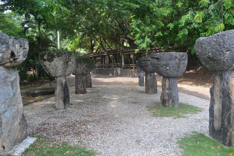 Latte Stones, Hagatna, Guam Agana Chamorro Guam Hagatna History Lattestones Marianas Micronesia