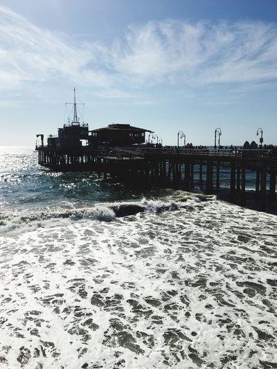 California Beaches Sea Pier Sky Water Sea Cloud - Sky Land Nature Beach Architecture Sand Ship Travel